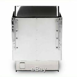 110V 304 Grade Stainless Steel Wet & Dry Sauna Heater Stove Spa Outer Controller