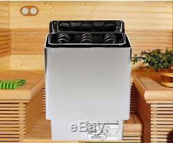 110V 6KW Dry Sauna Stove Heater Tool Temperature Controller Spa Home Sauna US