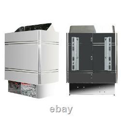 2/6/9KW Dry Sauna Heater Stove Internal Controller Stainless Steel Steam Bath US