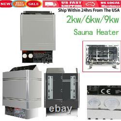 2/6/9KW Sauna Heater Stove Dry Steam Bath Machine+Internal Controller Home Hotel
