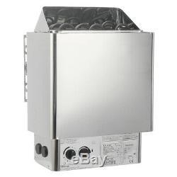 220V-380V 3K-9KW Sauna Heater Stove Wet & Dry Stainless Steel External Control