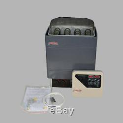 220V 9KW External Digital Controller Sauna Heater Stove Top Wet&Dry Galvanizing