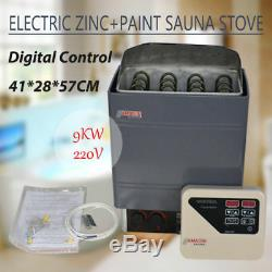 220V 9KW External Digital Controller Sauna Heater Stove Wet&Dry Galvanizing New