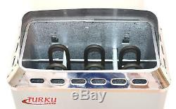 2KW 110V 90 Cu. Ft. MINI TYPE TURKU SAUNA HEATER STOVE BUILT-IN CONTROL + BONUS