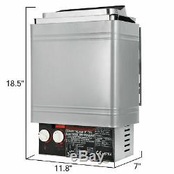 2KW Electric Wet & Dry Stainless Steel Sauna Heater Stove Internal Control #5lzd
