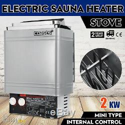 2KW Wet&Dry Sauna Heater Stove Internal Control Easy Operation Wall-mount
