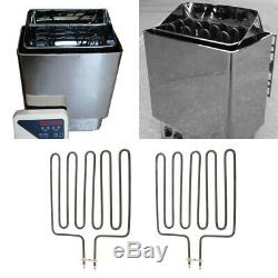 2Pc 3kW Wet Dry Sauna Heater Certified Stove for Spa Sauna Room Stainless Steel
