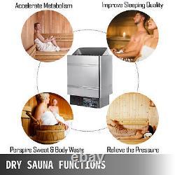 3KW Sauna Heater Stove Dry Sauna Stove Stainless Steel Internal Control Home Spa