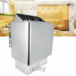 3KW Sauna Stove Heater With External Control Panel Steaming Room Bath Household