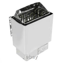 4.5KW 220V Stainless Steel Bathroom Heating Sauna Steam Engine Stove Heater Wit