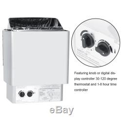 4.5KW Wet&Dry Sauna Heater Stove Temperature Control Commercial Heating 230-240V