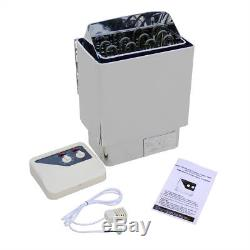 6KW 220V Auto Sauna Heater Stove Kit + External Controller for Home Spa Use