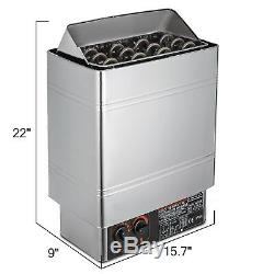 6KW 220V Sauna Heater Stove Wet & Dry Stainless Steel Internal Control Spa