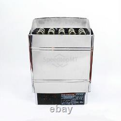 6KW Electric Sauna Heater Stove Wet Dry Stainless Steel Internal Control Spa