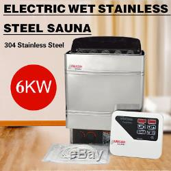 6KW Electric Wet&Dry Stainless Steel Sauna Heater Stove External Control 220V