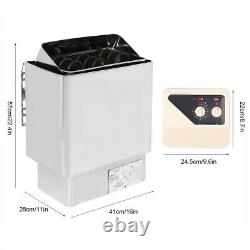 6KW Stainless Steel Bath Heating External Control Sauna Stove Heater Household