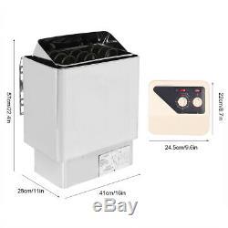 6KW Stainless Steel Bathroom Heating External Control Sauna Stove Heater