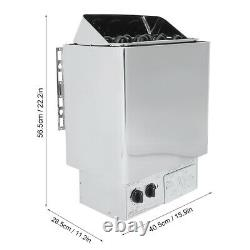6KW Stainless Steel Internal Control Sauna Stove Heater For Steaming Room Bath