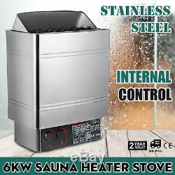 6KW Wet&Dry Sauna Heater Stove Internal Control Single Phase Home Control Knobs