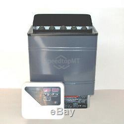 8KW Electric Sauna Heater Stove Wet Dry Aluminum Paint External Control Spa