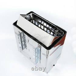 8KW Electric Sauna Heater Stove Wet Dry Stainless Steel External Control Spa