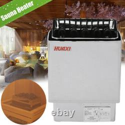 9KW 220V Electric Sauna Heater Stove Wet Dry Stainless Steel Home Hotel Spa Set