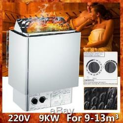 9KW 220V Electric Wet & Dry Stainless Steel Sauna Heater Stove Internal Control