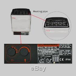 9KW 220V Stainless Steel Sauna Heater Stove Wet&Dry External Digital Controller