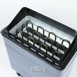 9KW Electric Sauna Heater Stove Wet Dry Aluminum Paint External Control Spa