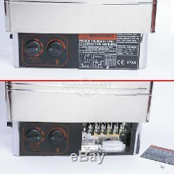 9KW Electric Sauna Heater Stove Wet Dry Stainless Steel Internal Control Spa