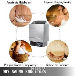 9KW Sauna Heater Dry Steam Bath Stove Spa Hotel Shower Electric Stainless Steel