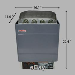 Commercial 220-240V 9KW Wet&Dry Sauna Heater Stove withExternal Digital Controller