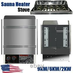 Dry Sauna Heater Stove 2/6/9KW Commercial Home SPA Internal Control Shower Bath