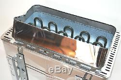 ELECTRIC TURKU SAUNA HEATER STOVE 240V 6KW 300CuFt EXTERNAL CON5 DIGITAL CONTROL