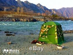 Mobiba Portable Mobile Sauna Tent MB-10A (3-4 pers.) + Wood Heater-Stove Mediana