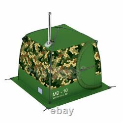 Mobiba Portable Mobile Sauna Tent + Wood Heater-Stove Mediana