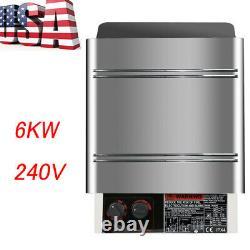 New Commercial 6KW 240V Sauna Heater Stove Dry Steam Bath Sauna Machine Durable