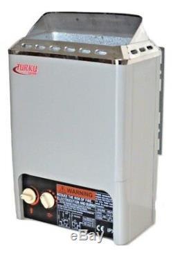 OPEN BOX 2KW 110V 90 Cu. Ft. MINI TYPE TURKU SAUNA HEATER STOVE BUILT-IN CONTROL