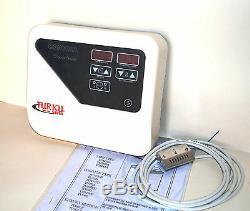 OPEN BOX 9KW 240V 450 Cu. Ft TURKU SAUNA HEATER STOVE EXTERNAL DIGITAL CONTROLLER