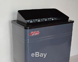 Open Box 6kw 240v Turku Wet & Dry Sauna Spa Heater Stove Built-in Knob Control