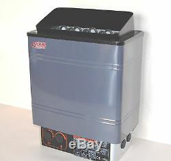 Open Box 9kw 240v Turku Wet & Dry Sauna Heater Stove External Digital Controller
