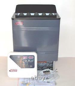 Open Box 9kw Turku Wet & Dry Sauna Heater Stove External Digital Controller