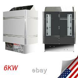 Portable 6KW Sauna Heater Stove Dry Steam Bath Sauna Machine W Internal Control