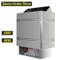 Sauna Heater Stove 6KW 240V Dry Steam Bath Home SPA Commercial Internal Control