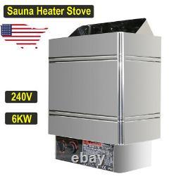 Sauna Heater Stove 6KW 240V Dry Steam Bath Machine Home SPA nternal Controller