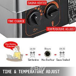 Sauna Heater Stove 9KW Dry Sauna Stove Internal Control Aluminum Alloy Case 220V