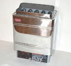 Set 6kw 240v Stainless-steel Electric Sauna Heater Stove Con5 Controller + Bonus