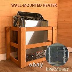 SurmountWay Sauna Heater 6KW Dry Steam Bath Sauna Heater Stove 220V-240V with