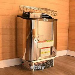 TOULE NTSC30 3 kW Wet and Dry Sauna Heater ETL Certified Stove for Spa Sauna Roo