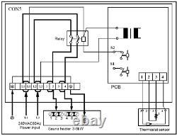 TU90WD-OD 9KW 240V TURKU Wet & Dry Sauna Heater Stove External Digital Control